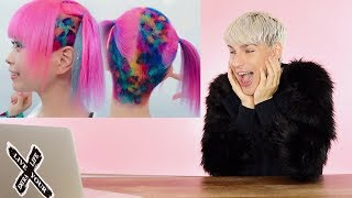 HAIRDRESSER REACTS TO HARAJUKU GIRL HAIR COLOR! |bradmondo