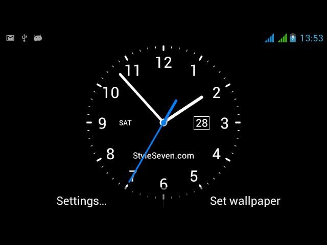 Analog Clock Live Wallpaper 7 Youtube