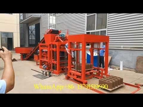 Automatic Hollow Concrete Block Machine Guinea-Bissau QTJ4-25D Cement Brick Machinery