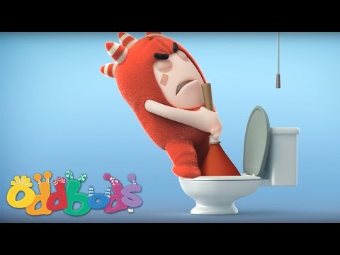 Oddbods-Fuse Unblocks the Toilet