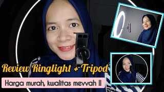 REVIEW RINGLIGHT 26 CM & TRIPOD || cara pasang mudah bgt !!! || Annisa Martasari 🕊️