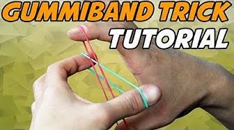 GUMMIBAND TRICK LERNEN! - Crazy Man's Handcuffs (Tutorial/Erklärung)