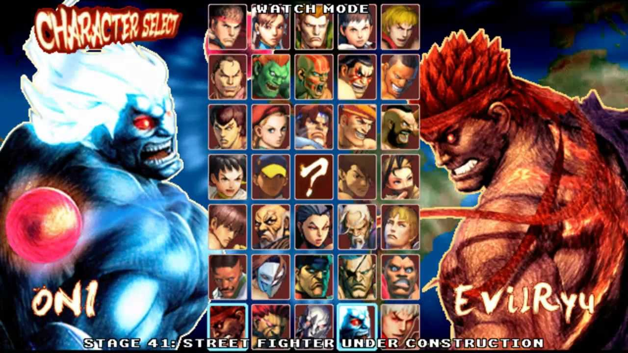 Super Street Fighter Iv Mugen Edition Oni Youtube