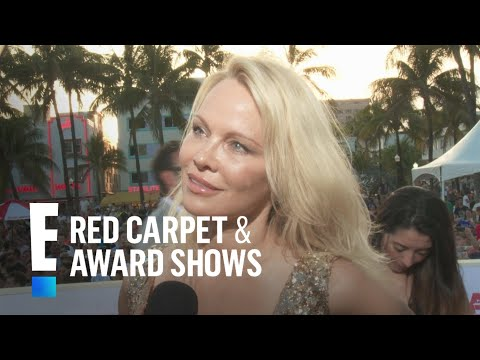 """Pamela Anderson & David Hasselhoff Reunite at """"Baywatch"""" Premiere 