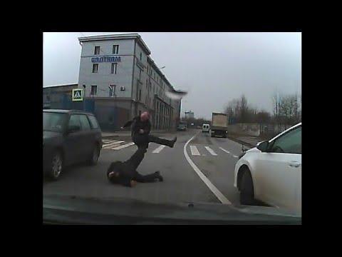 Выпуск 158  Драки на дороге, неадекватные водители, быдло, драки