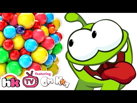 OM NOM vs GIANT CANDY | Cut The Rope | Funny Cartoons Compilation for Children by HooplaKidz TV