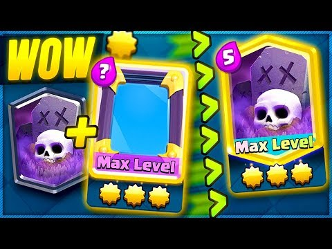 How To MAX STAR LEVEL on any card FREE in CLASH ROYALE!