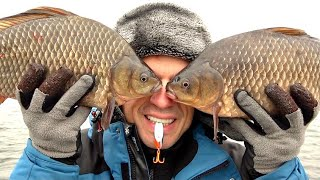 Первая рыбалка 2021 года Клюют караси монстры Ловля карася на кастмастер