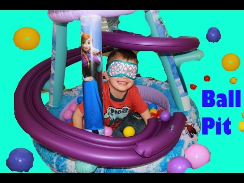GIANT Frozen Surprise BALL PIT For AllToyCollector Blind Fold Elsa & Anna Disney Princess Car Toys