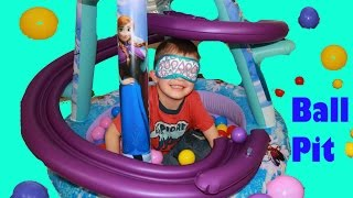 GIANT Frozen Surprise BALL PIT For AllToyCollector Blind Fold Elsa & Anna Disney Princess Car Toys