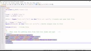 PHP SCRIPT :Write Text Box input to the Text File(Writing into text file)