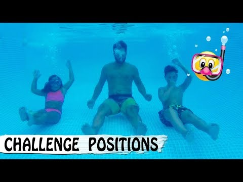 PISCINE CHALLENGE : Poses sous l'eau / Family vlog