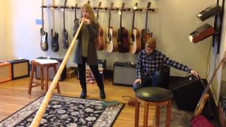 Alphorn Looping at Phelps Bros. Guitars