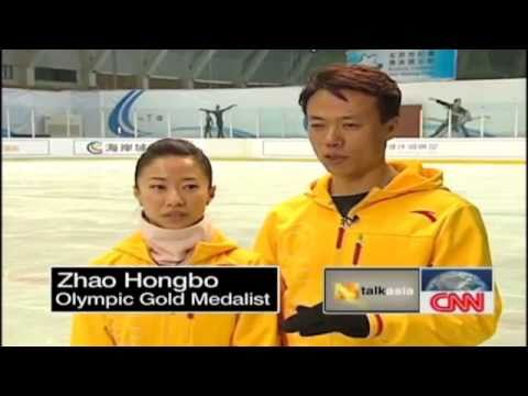 Zhao Hongbo & Shen Xue CNN Interview - 2010 Olympic Champion