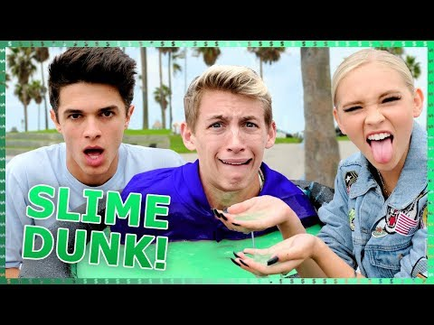 SLIME DUNK CHALLENGE   Do It For The Dough w/ Brent Rivera & Light as a Feather Cast