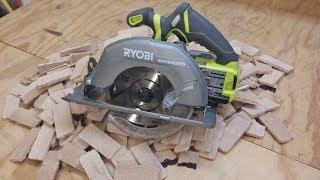 """Ryobi One+ 18V Brushless Cordless 7-1/4"""" Circular Saw Review"""
