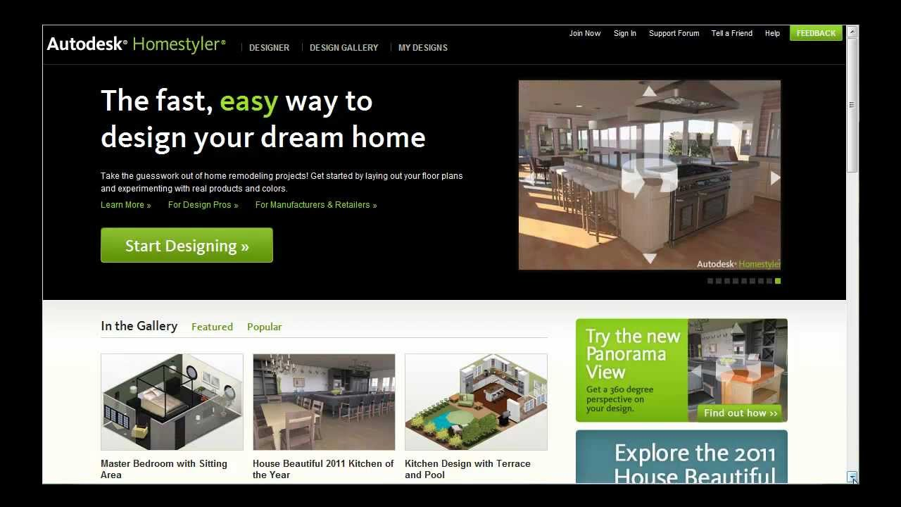 Introducing autodesk homestyler youtube for Homestyles com