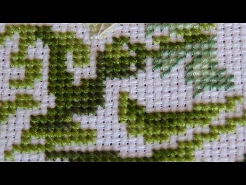 Выкладная нить при вышивке крестом 24