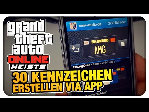 GTA Online - Kennzeichen erstellen (after Heist Update) | WeissStudio