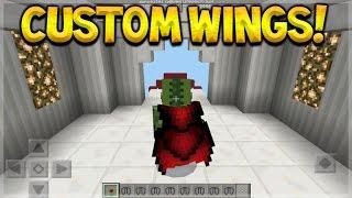 CUSTOM WINGS! Minecraft Pocket Edition - 0.17.0 Custom Elytra Wings Addon (Pocket Edition)