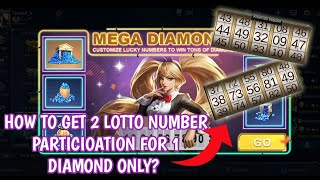 How to draw 2 loтto numbers Mega Diamonds Event for 1 diamond only? | MOBILE LEGENDS BANG BANG