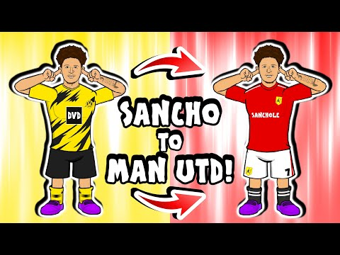 🟡🤝🏻🔴JADON SANCHO to MAN UTD - deal done! (Transfer Parody Song)