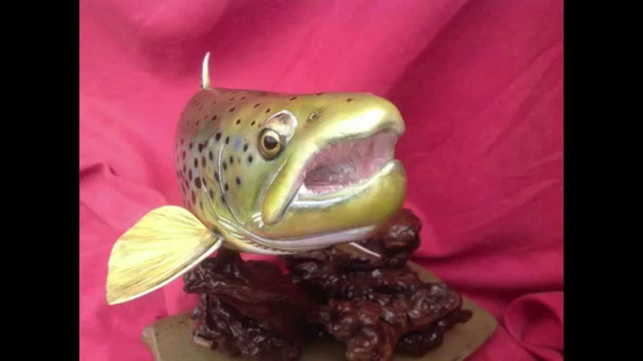 Trout carving ebay