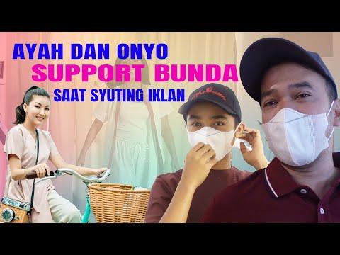 The Onsu Family - Ayah Dan Onyo Support Bunda Saat Syuting Iklan