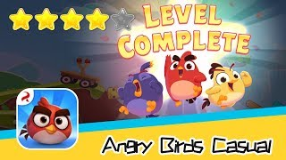 Angry Birds Casual Level 53 54 Walkthrough Sling birds to solve puzzles! Recommend index four stars