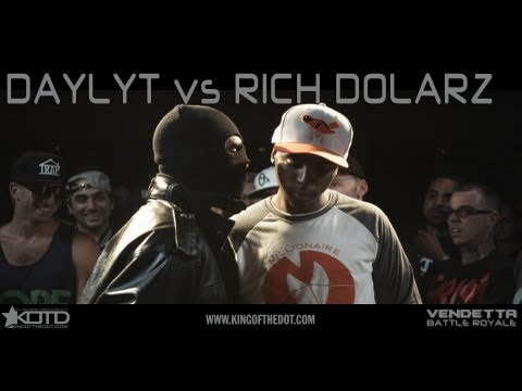 KOTD - Rap Battle - Daylyt vs Rich Dolarz | #Vendetta
