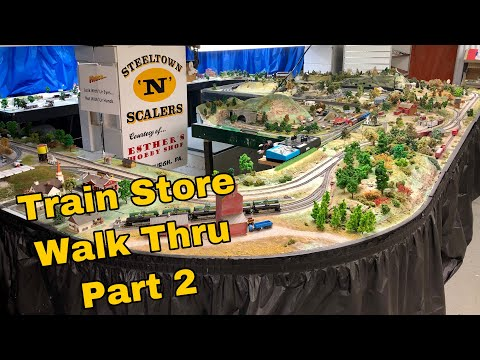 HUGE N Scale Train Layout – Esther's hobby shop – Pittsburgh PA