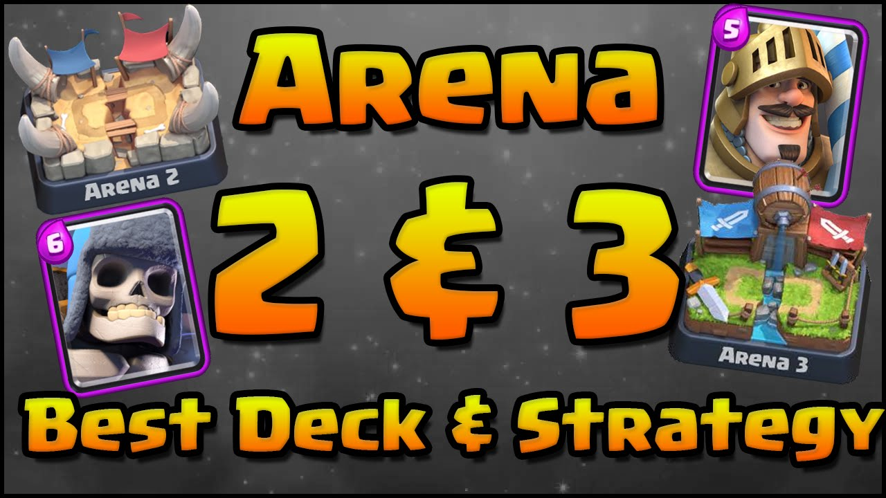 Clash Royale - Best Decks Arena 2 & Arena 3 and Attack Strategy | Low ...