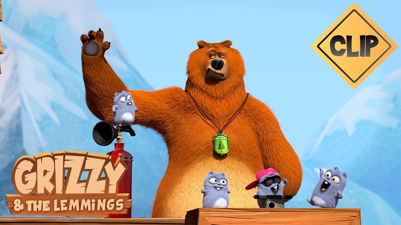 Musique fond avec les lemmings grizzy les lemmings - Dessin de grizzly ...