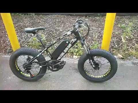 20/'/' Pedalease Electric Fat Bike Big Cat  Pedalease 1500W Regenerative Braking