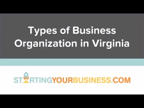 Types of Business Organization in Virginia - Starting a Business in Virginia