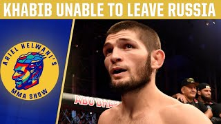 Khabib Nurmagomedov stuck in Russia, fight vs. Tony Ferguson in doubt | DC & Helwani | ESPN MMA