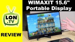 """Wimaxit 15.6"""" Portable Display Review - Switch, PC with Touch, mobile, HDMI, USB-C"""