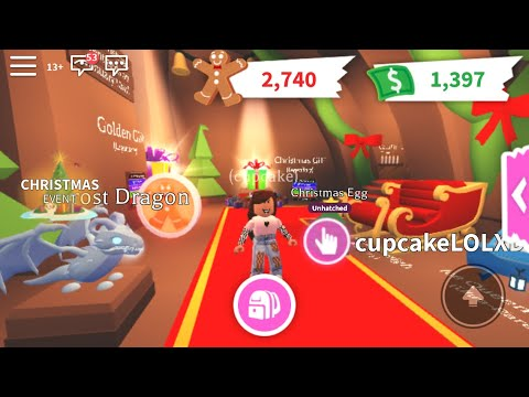 Hatching a Christmas egg in adopt me - YouTube
