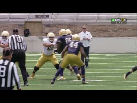 Notre Dame Blue and Gold Game 2017 Condensed