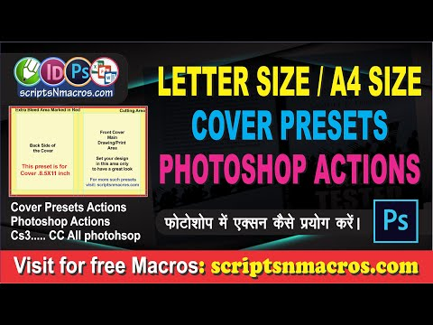 Photoshop Action: Letter And A4 Cover Size Presets For Photoshop