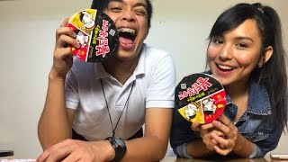 Korean Fire Noodles Challenge ft. Kyline Alcantara   Jonald Helito