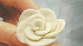 как сделать розу из теста для лепки