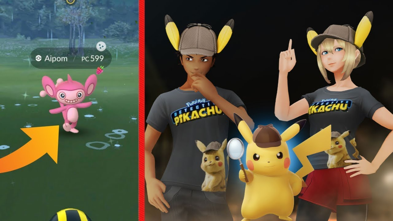 New Detective Pikachu Event In Pokemon Go Shiny Aipom Detective