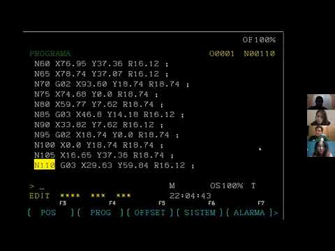 WinNC maquinado manual
