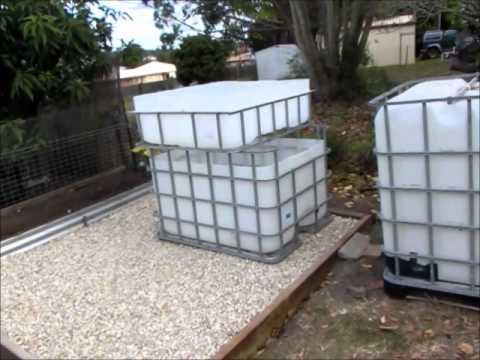 Backyard Aquaponic Ibc Amp Barrelponic Construction Update 2