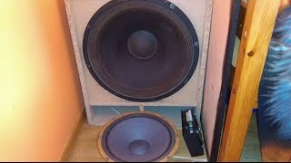 Eminence Omega Pro 18 inch Subwoofer Bass test ! ONLY 20 WATTS RMS