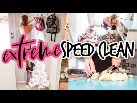 EXTREME SPEED CLEAN | CLEANING, DECLUTTERING, DECORATING, & COOKING | ULTIMATE CLEAN WITH ME
