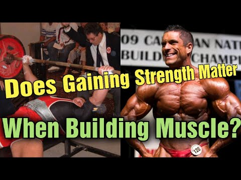 "Why Gaining STRENGTH Does Not ""REALLY"" Matter When Building MUSCLE? Explained!"