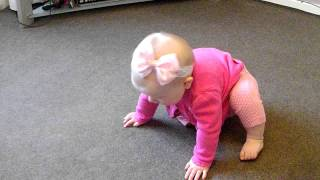 Cute baby girl has tantrum whilst learning to crawl x thumbnail