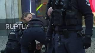 Germany: Police break up mass brawl at Berlin's Alexanderplatz
